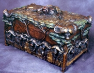 Cape Buffalo Humador or Keepsake Box