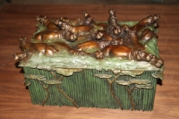 Hippo Keepsake Box or Humador